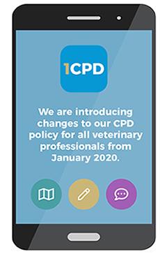 Mobile  displaying 1CPD logo